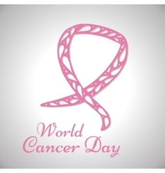World cancer day background vector