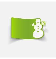 Realistic design element christmas snowman vector