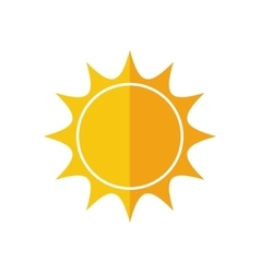 sunny sun abstract sunshine icon graphic vector image