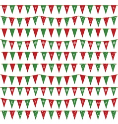 Christmas bunting pack vector
