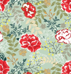 Retro floral seamless backgroundpattern vector