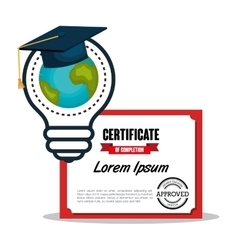 Education graduation cerficate vector