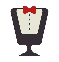Manikin with waiter costume vector image