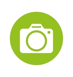Photographic camera button thumbnail icon image vector