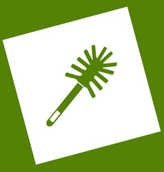 Toilet brush doodle  white icon obtained vector