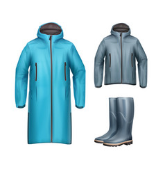 jackets with rubber boots vector image