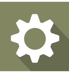 Settings web icon flat design vector