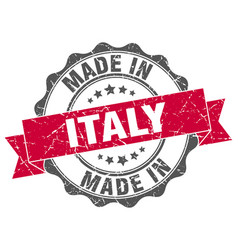 Made in italy round seal vector