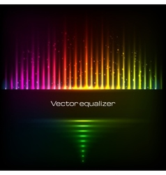 Rainbow colors equalizer vector