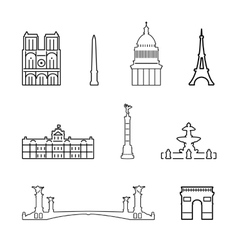 Icons of france vector