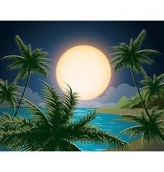 Tropical seascape vector