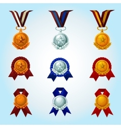 Medals cartoon set vector