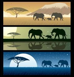 africa landscapes 2 vector image