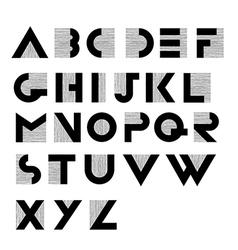 retro wide decorative alphabet vector image