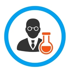 Chemist rounded icon vector