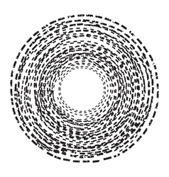 Abstract background Circle of the dotted line vector image