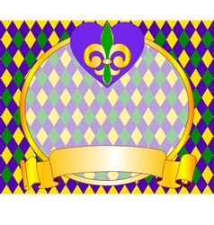 Mardi gras background design with place for text vector