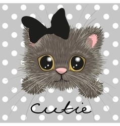 Cute british kitten vector