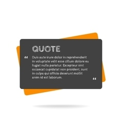 Quotation mark speech bubble empty quote blank vector