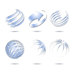 Abstract sphere icons collection vector image vector image