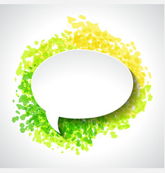Abstract white paper speech bubble on color grunge vector image vector image