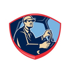 Bus Truck Driver Side Shield vector image