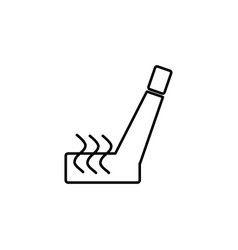 Car seat heating icon vector