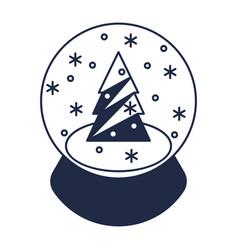 christmas magic ball isolated icon vector image