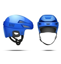 Classic blue Hockey Helmet vector image vector image
