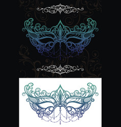 decorative mask vector image vector image