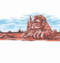 desert rock vector image