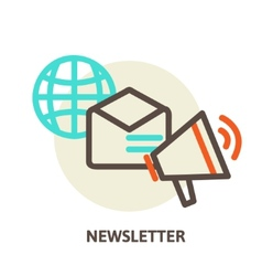 Email marketing concepts newsletter and vector
