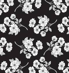 flower pattern for textile design vector image vector image