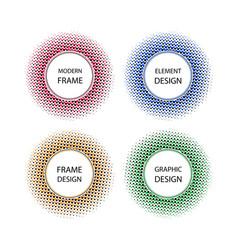 half tone symbol vector image vector image