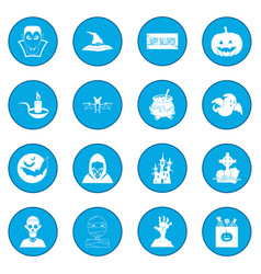 Halloween black icon blue vector