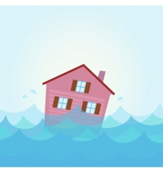house flood vector image