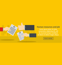 human resources and job banner horizontal concept vector image vector image