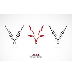 image of an deer design vector image