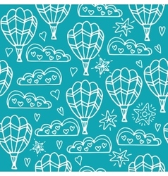 Inspiring seamless background with balloon and vector image