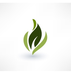 Leaf icons eco concept logo design vector