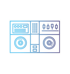 line stereo to play and listen to music vector image vector image