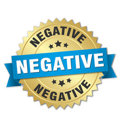 Negative round isolated gold badge vector