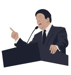 Politician and speaker vector