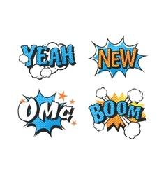 Popart comic speech bubble boom effects vector image vector image