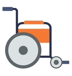 Side view of empty wheelchair vector