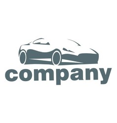 Silhouette car logo vector image vector image