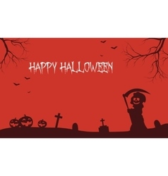 Warlock and pumpkins Halloween backgrounds vector image vector image
