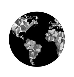 World black and white vector