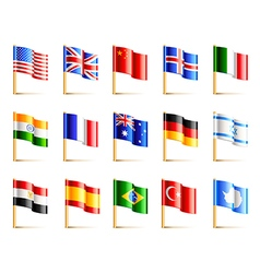 World countries flags icons set vector image vector image
