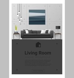 Interior design modern living room banner 6 vector